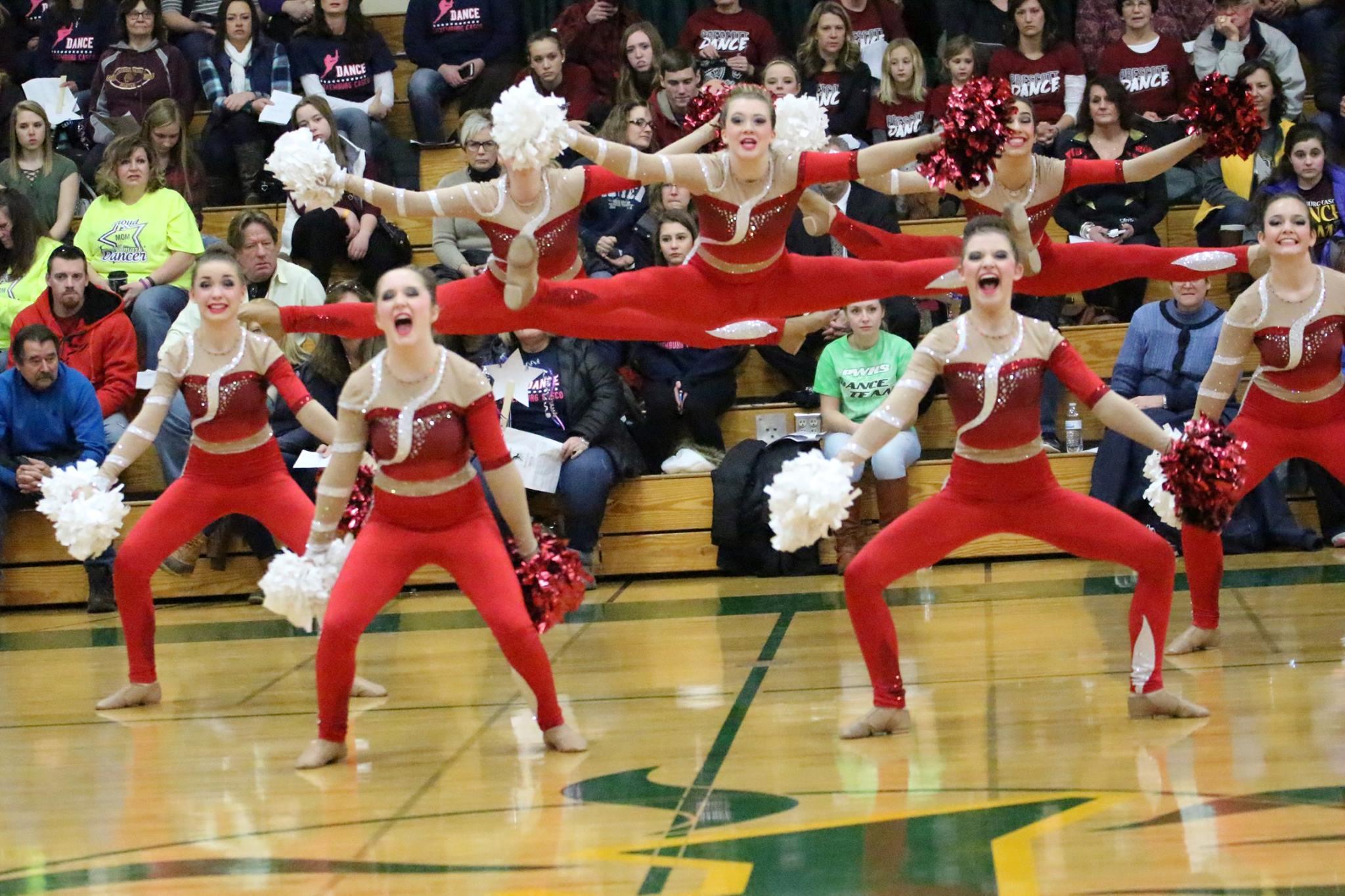 Kimberly High School Dance Team Custom Kick Costume