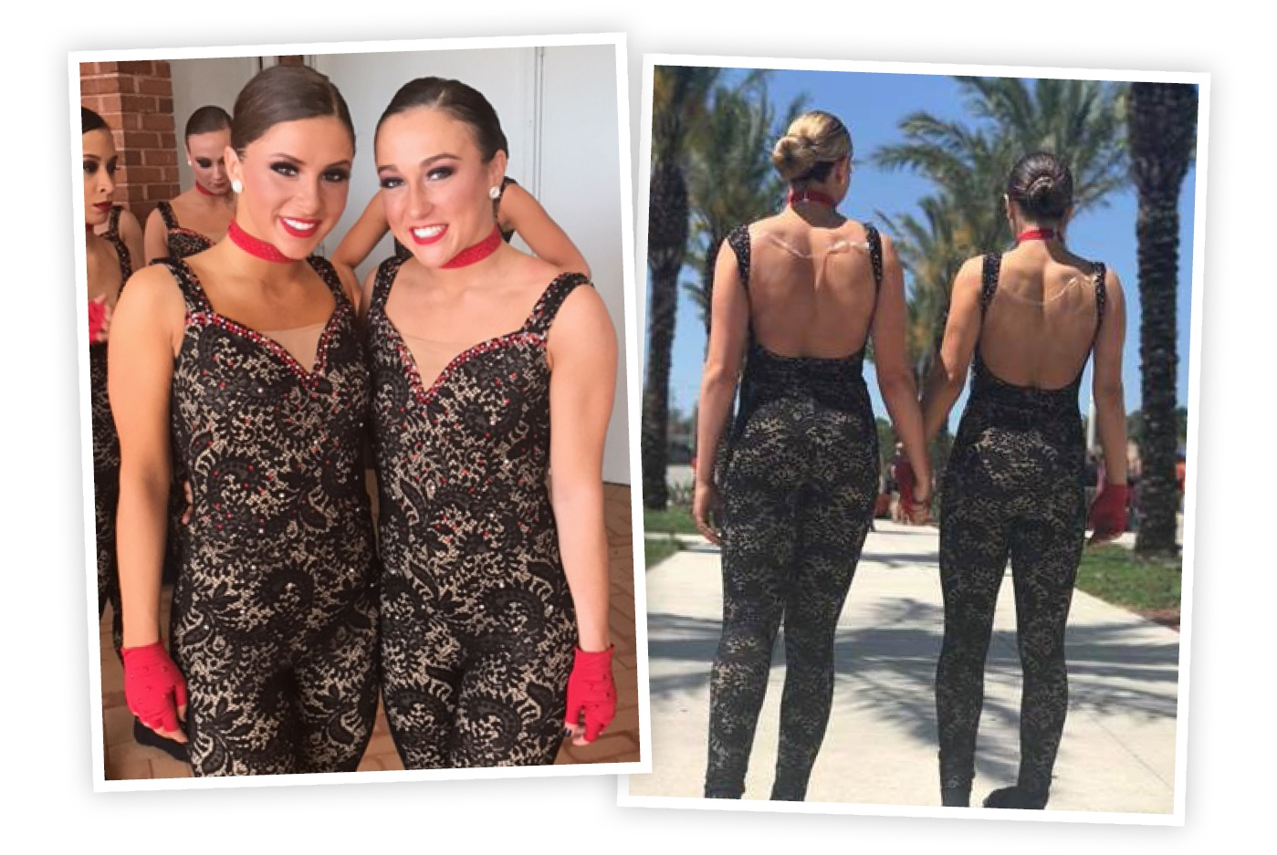 Louisville Ladybirds black lace unitard dance costume.jpg