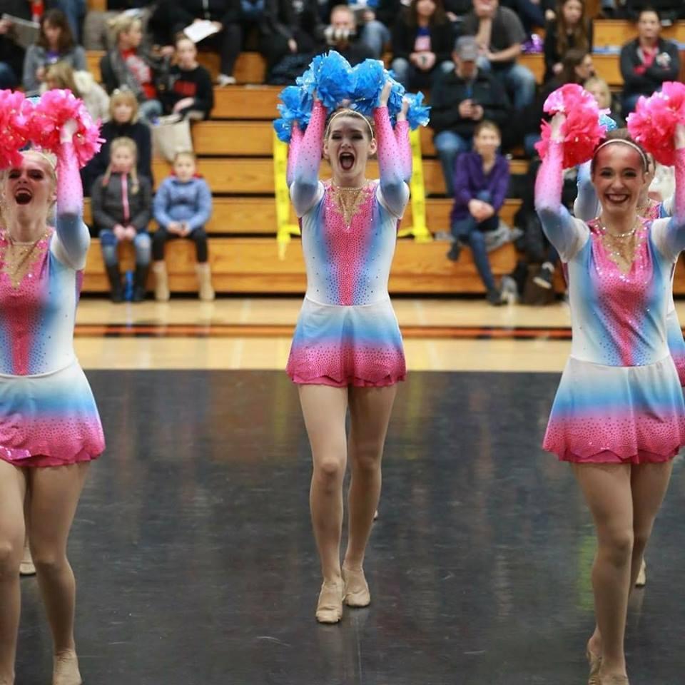 Laconia High School Dance Team Custom Pom Uniform
