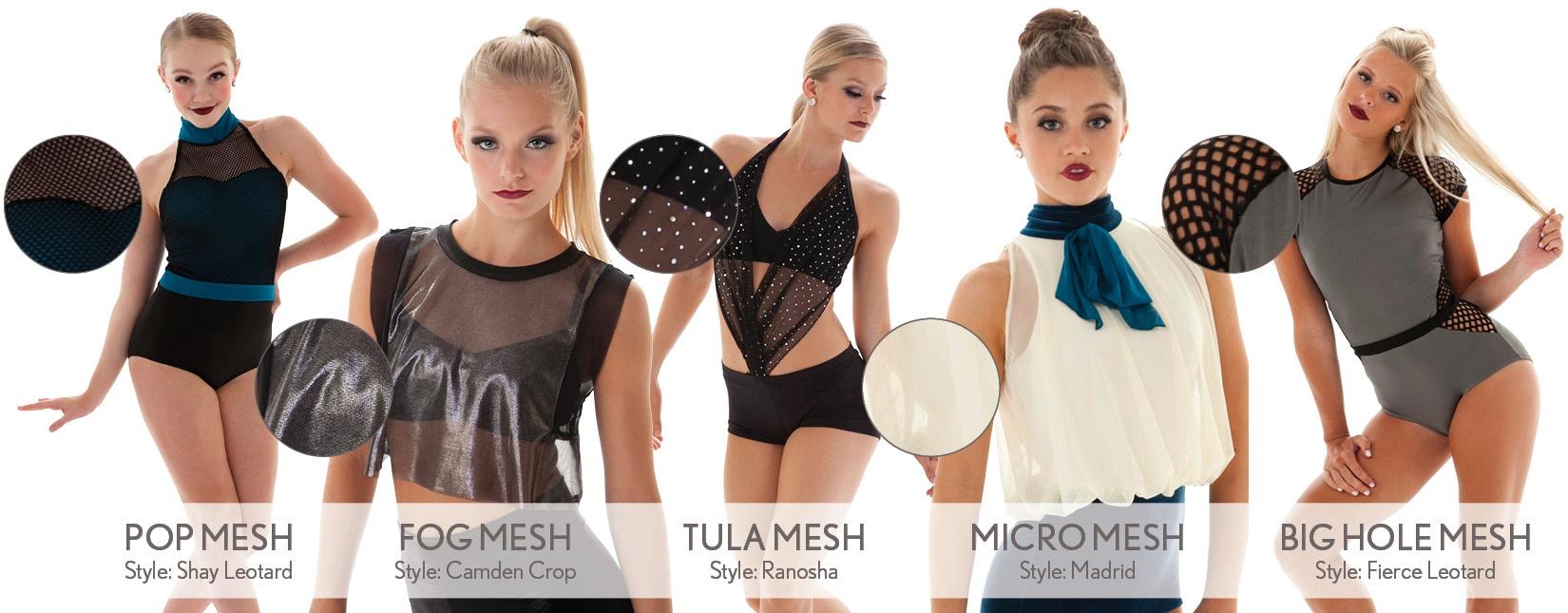 mesh custom dance costume fabrics