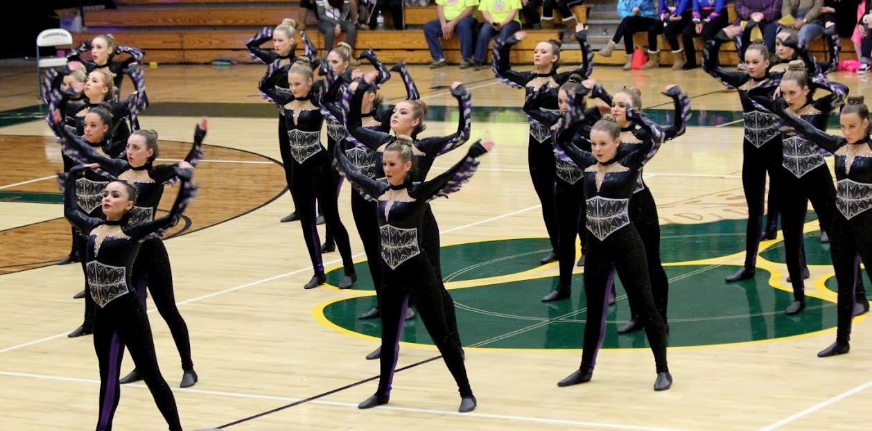 Mukwonago dance team high kick costume