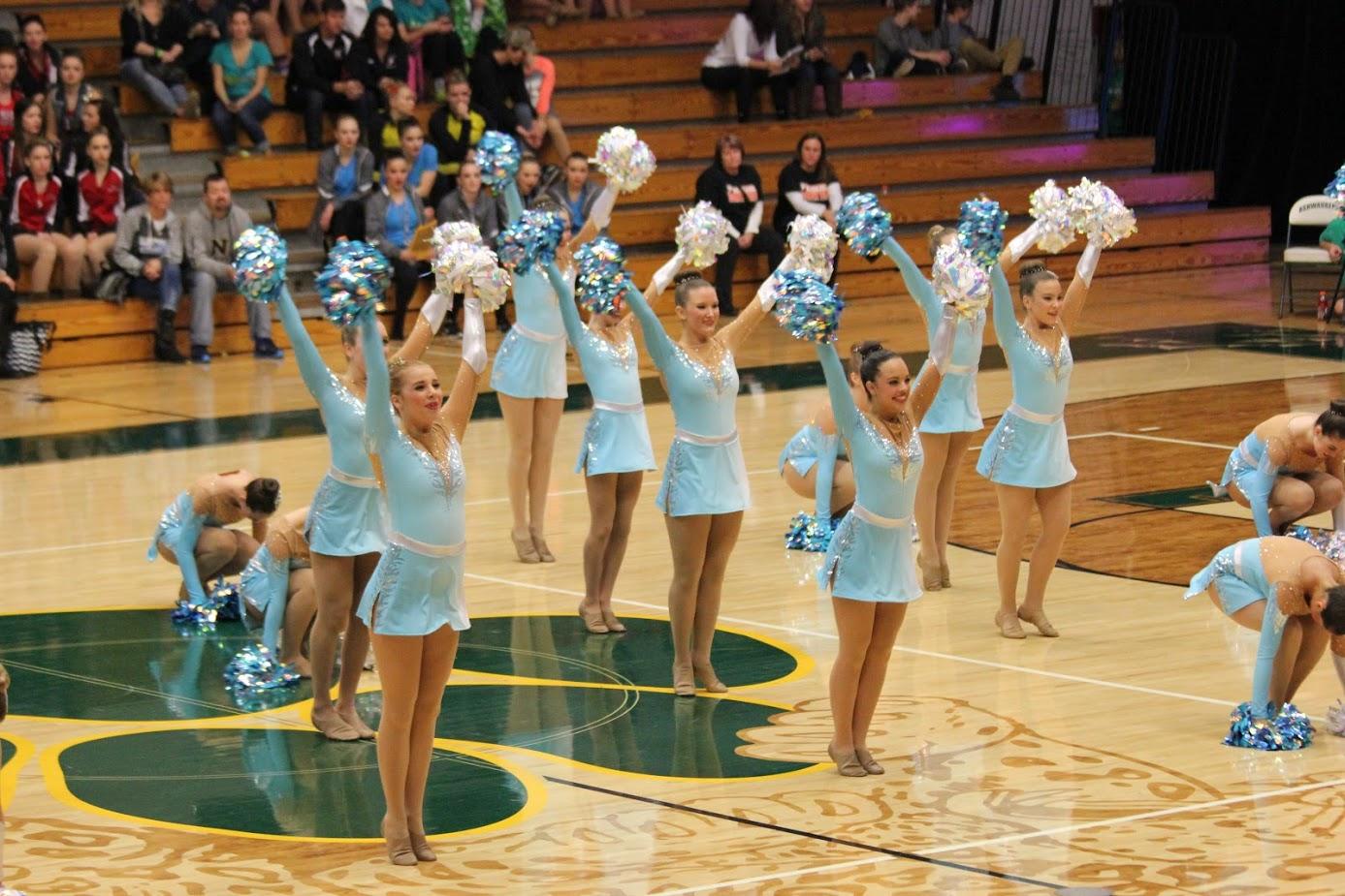 Mukwonago High School Dance Team Custom Pom Uniforms