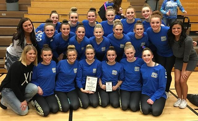 Mukwonago High School dance team