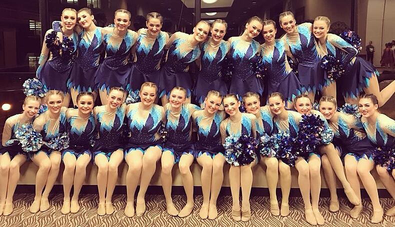 Mukwonago dance team custom pom uniform