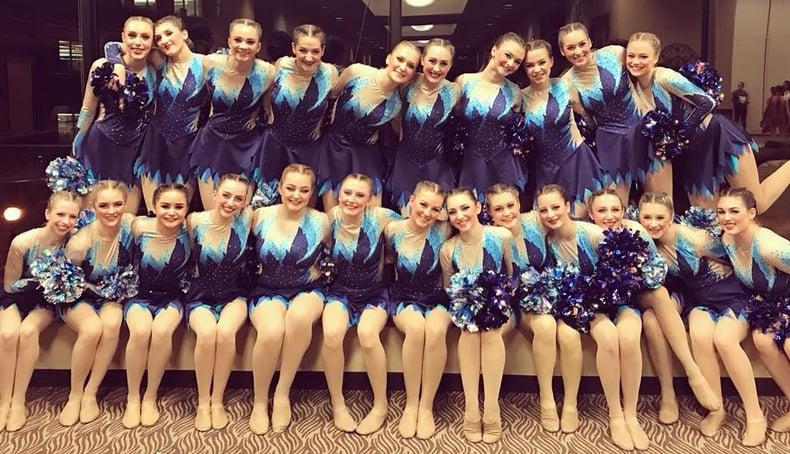 Mukwonago dance team custom pom uniform