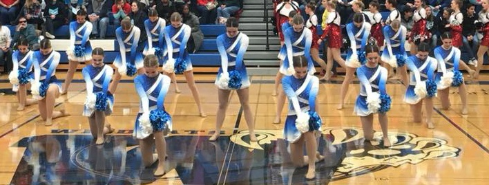 Oak Creek Dance team custom pom uniform