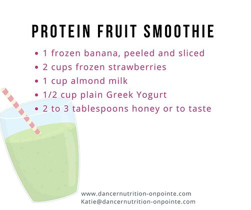 Protein-Fruit-Smoothie Nutrition for Dancers
