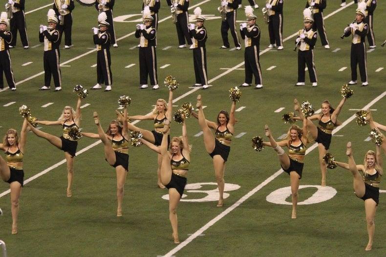 purdue golduster dance team western dance costume purdue marching band