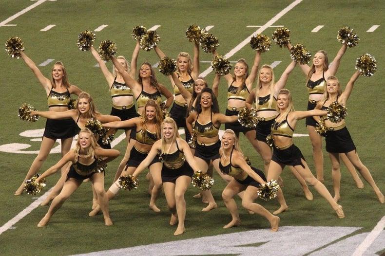 purdue golduster dance team halftime show