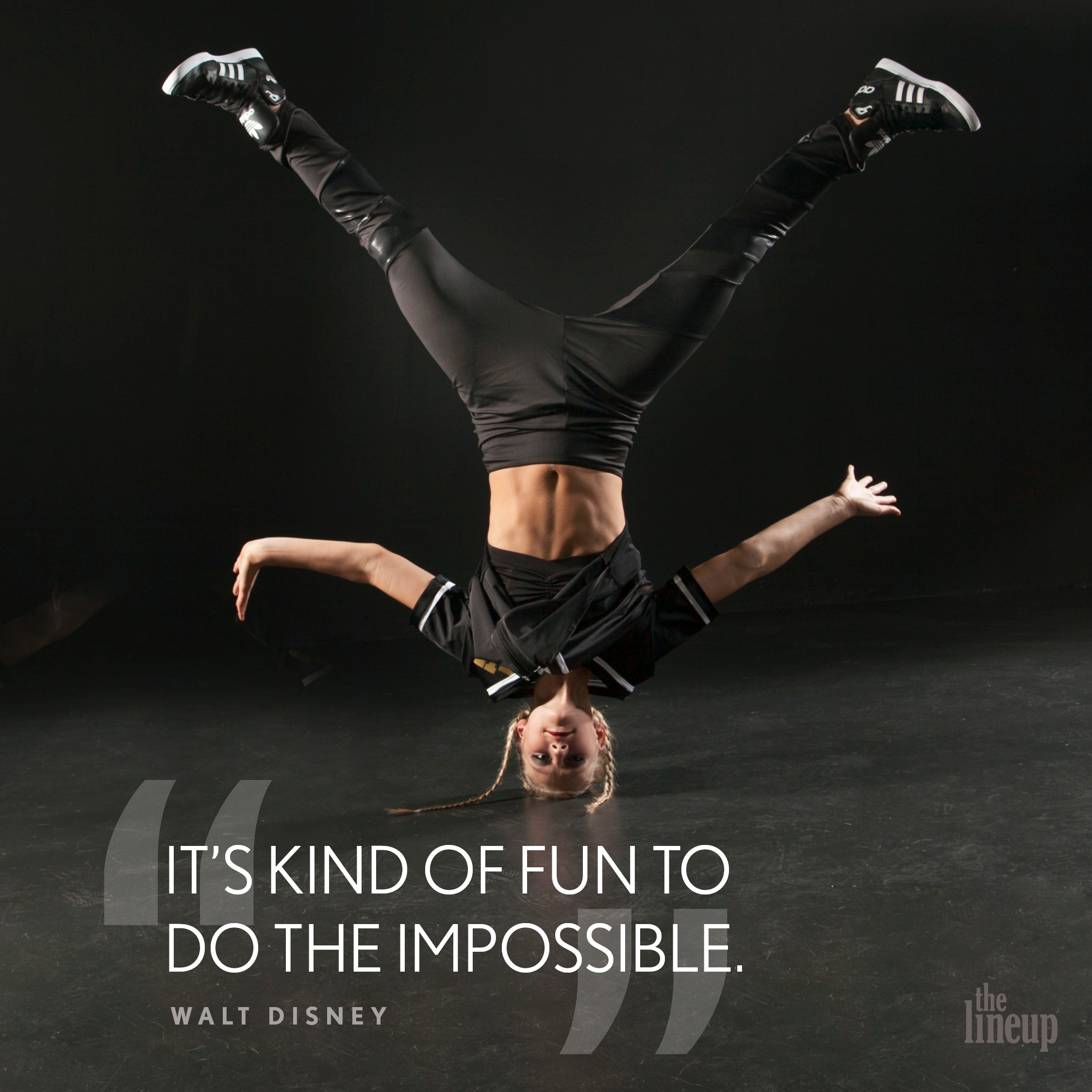 """""""It's kind of fun to do the impossible."""" - Walt Disney Motivational quote for dancers"""