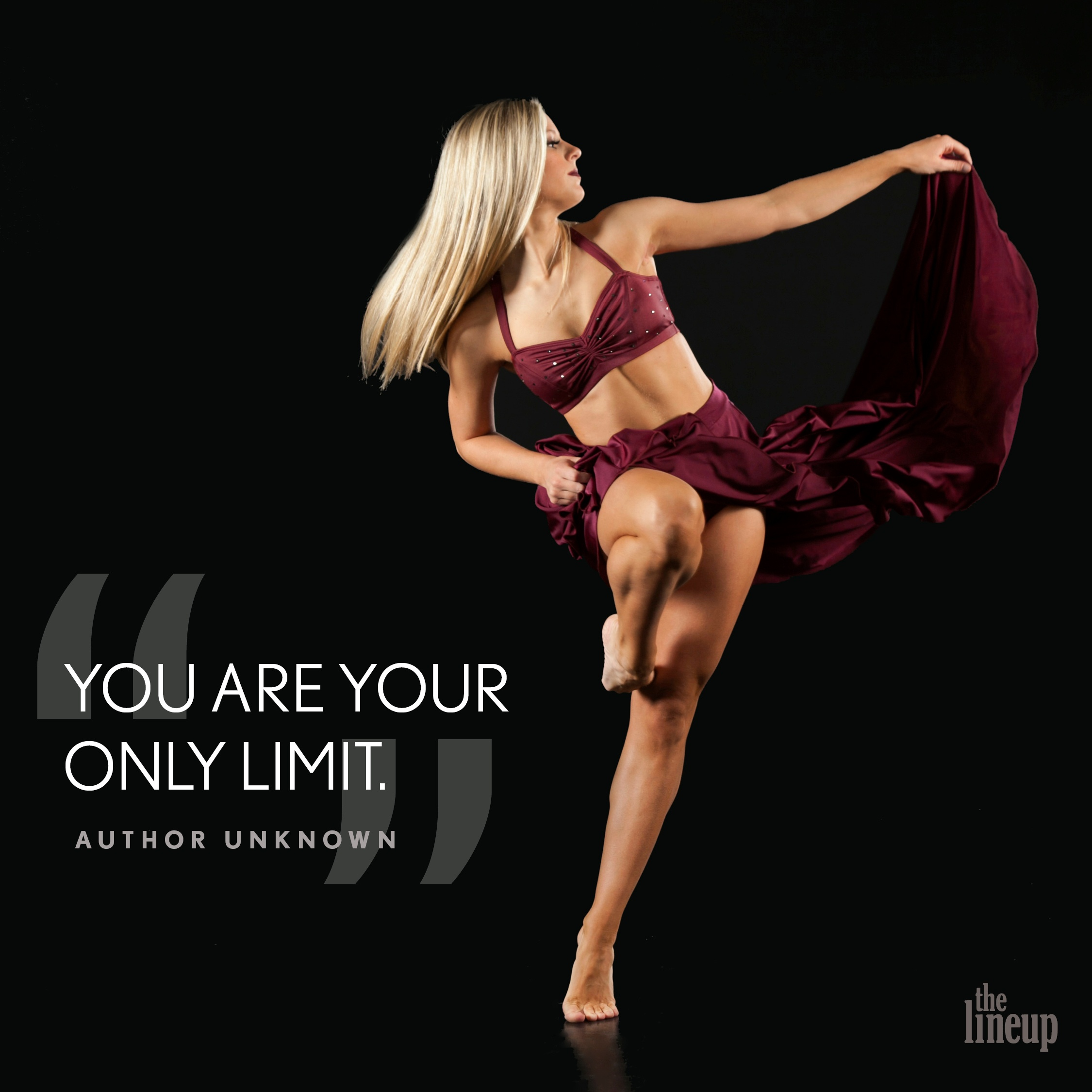 """""""You are your only limit."""" - Author Unknown Motivational Quotes for Dancers"""