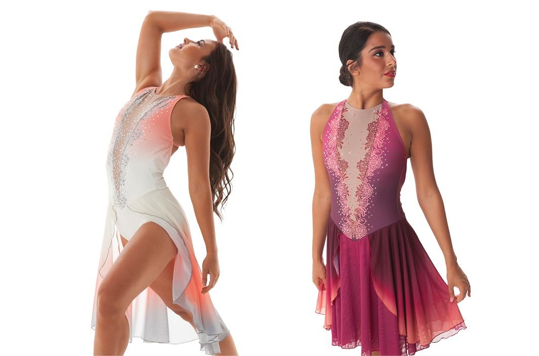 Raelyn v Raelyn Skate skirt layers affect custom dance costume cost