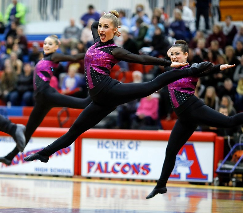 Spring Lake Park High School MN State 2017 2 High Kick.jpg
