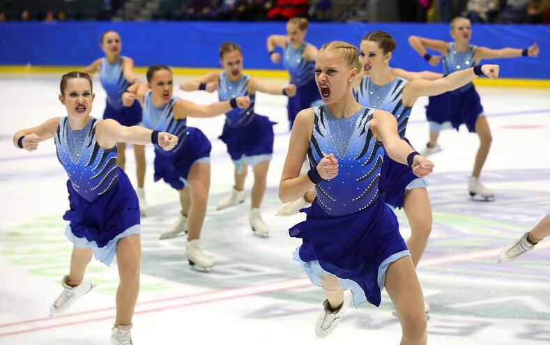 synrhonized skating dresses at eastern skating championships