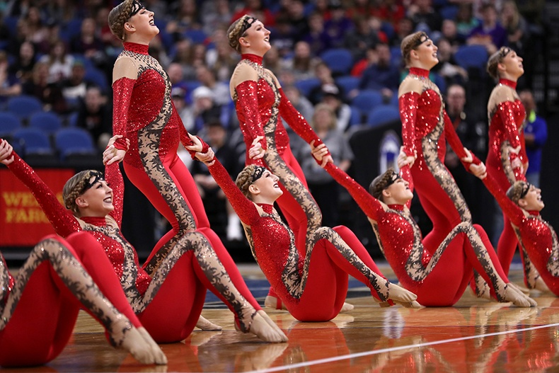 Totino Grace Fridley High School MN State 2017 2 High Kick.jpg