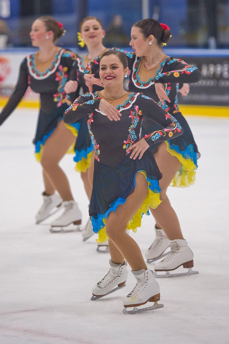 Trine University Varsity Synchronized Skating Team