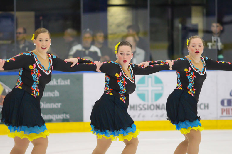 Trine University Varsity Synchronized Skating Team