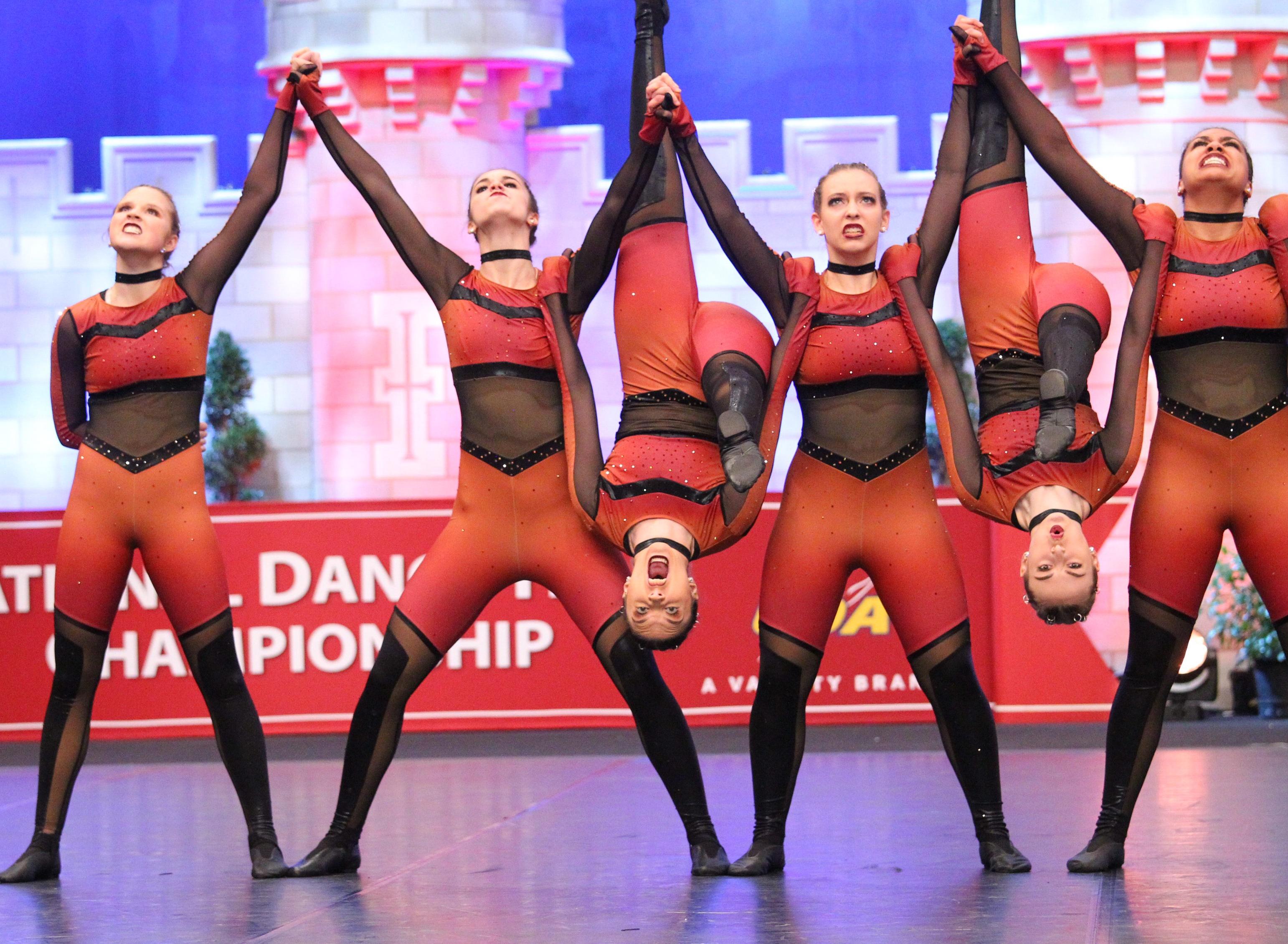 fargo davies dance team custom high kick dance costume