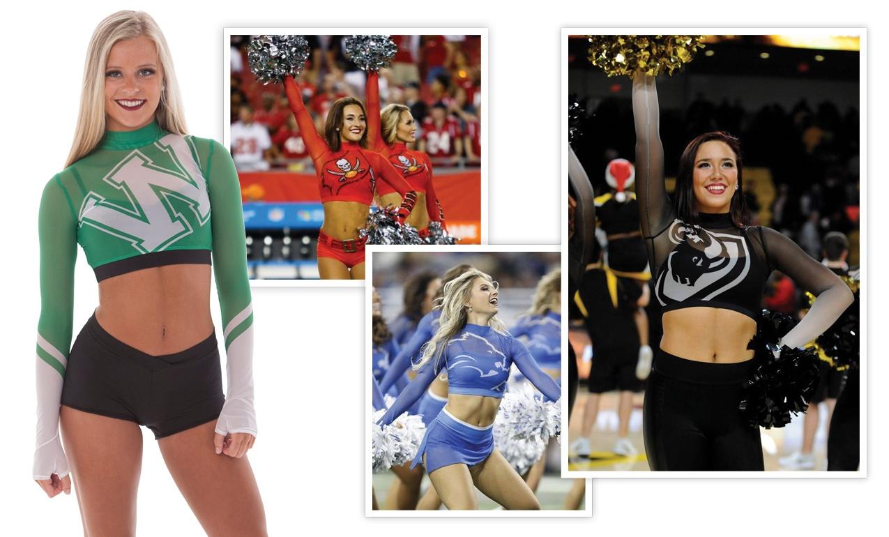 gold rush dancers, detroit lions cheerleaders, and tampa bay bucs cheerleaders