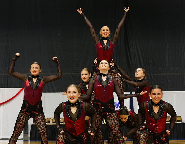 Valley City High School red High Kick costume