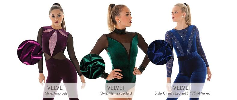 dance costume fabrics explained- velvet
