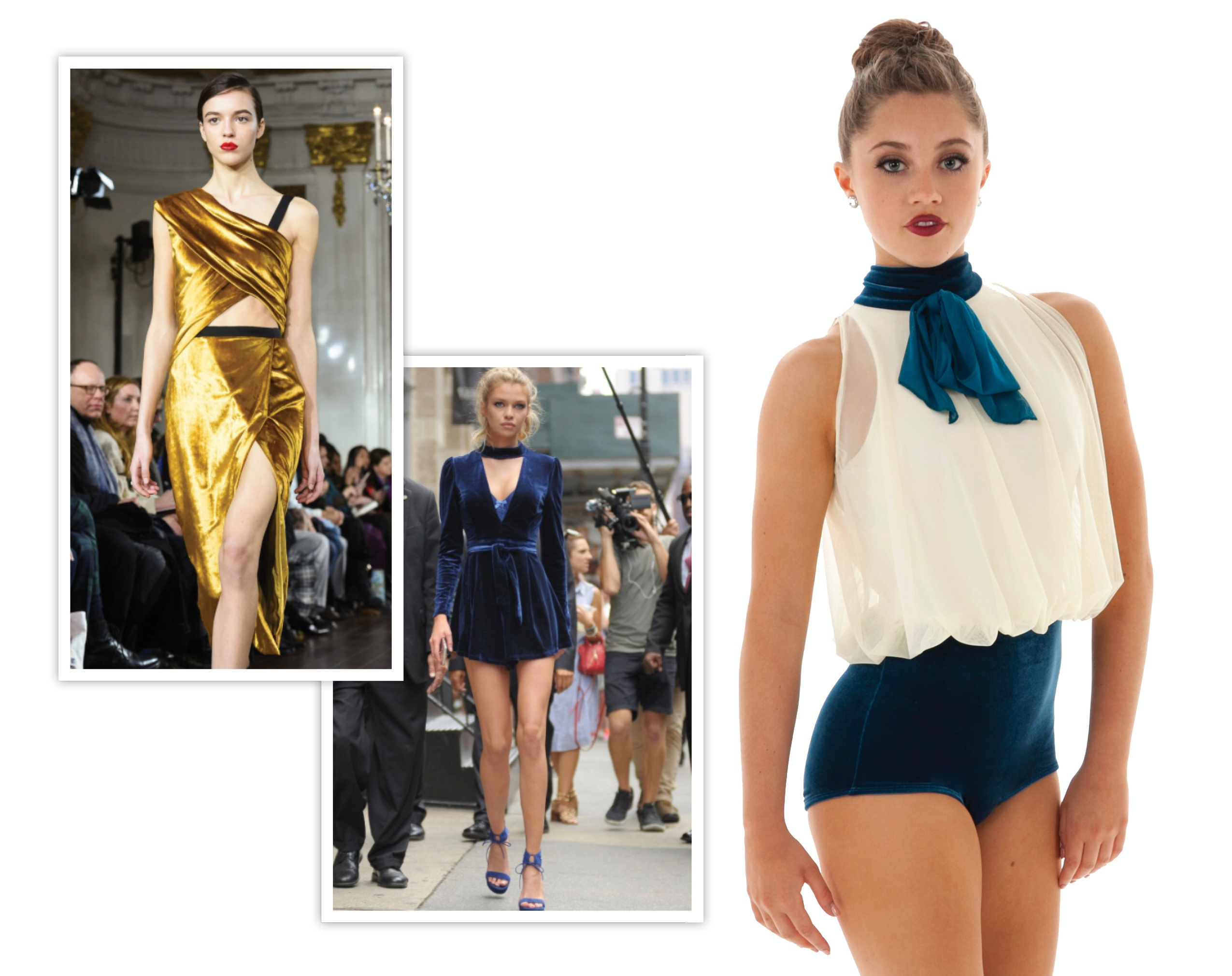 Velvet dance costume inspired by fashion