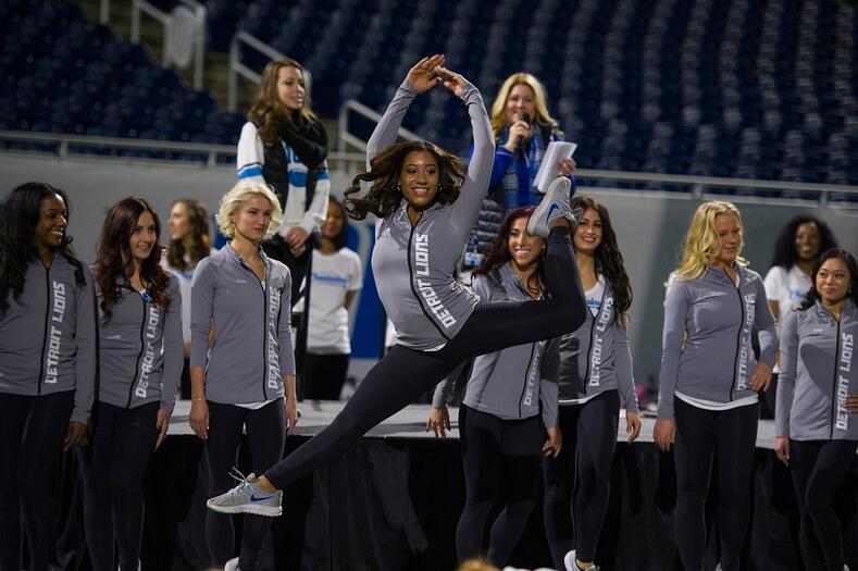 Detroit Lions Cheerleaders Warm Up Jackets