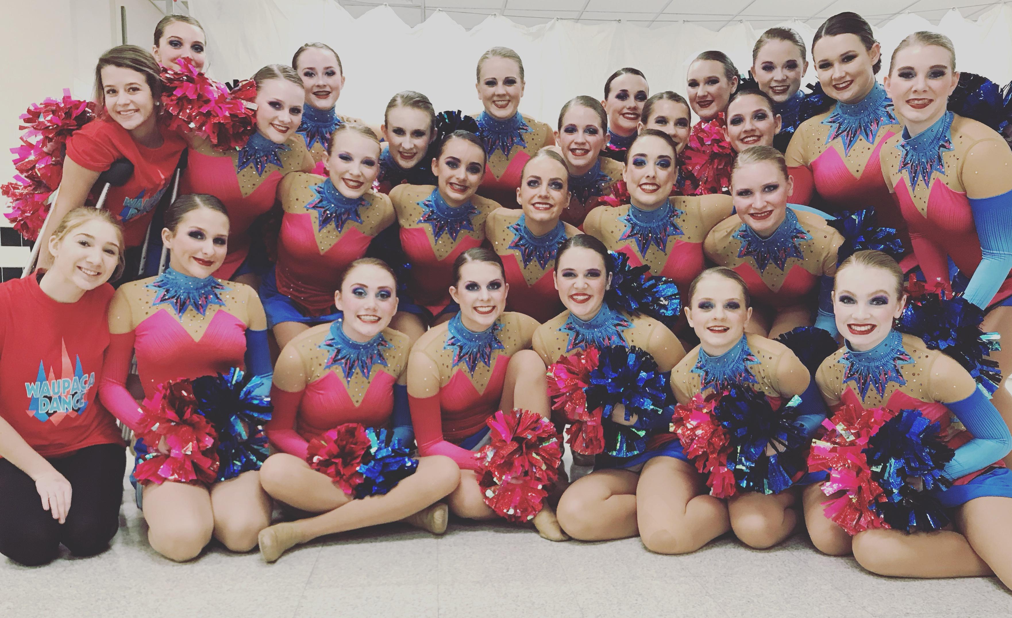 Waupaca dance team custom pom uniform