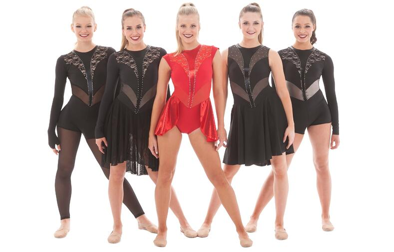 Custom jazz, high kick and synchronized skate costumes based on online style, Wednesday