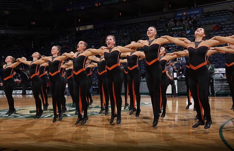 West De Pere dance team custom kick unitard
