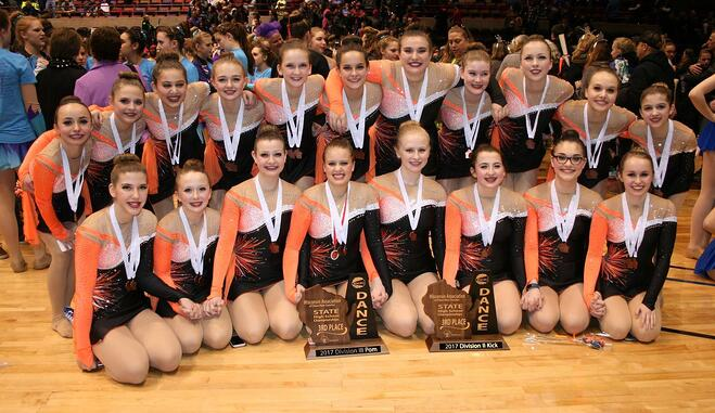 West De Pere High School Dance Team custom pom uniform