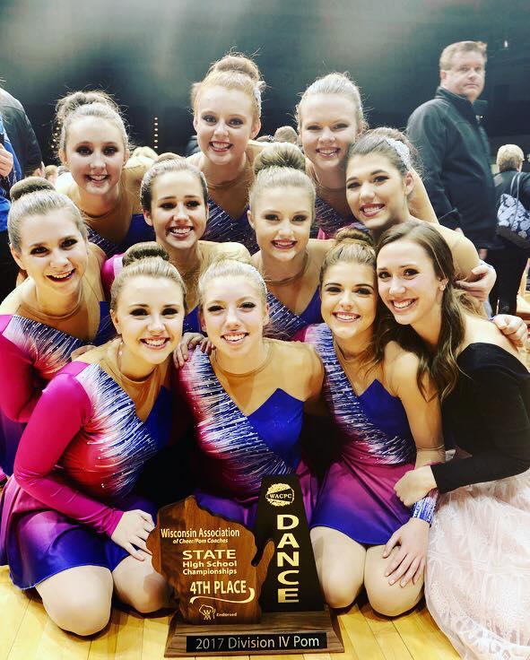 West Salem Dance Team custom pom uniforms