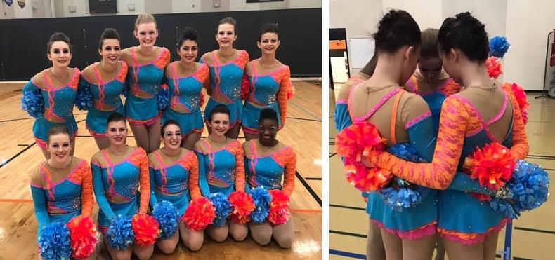 Wrightstown dance team custom pom uniform