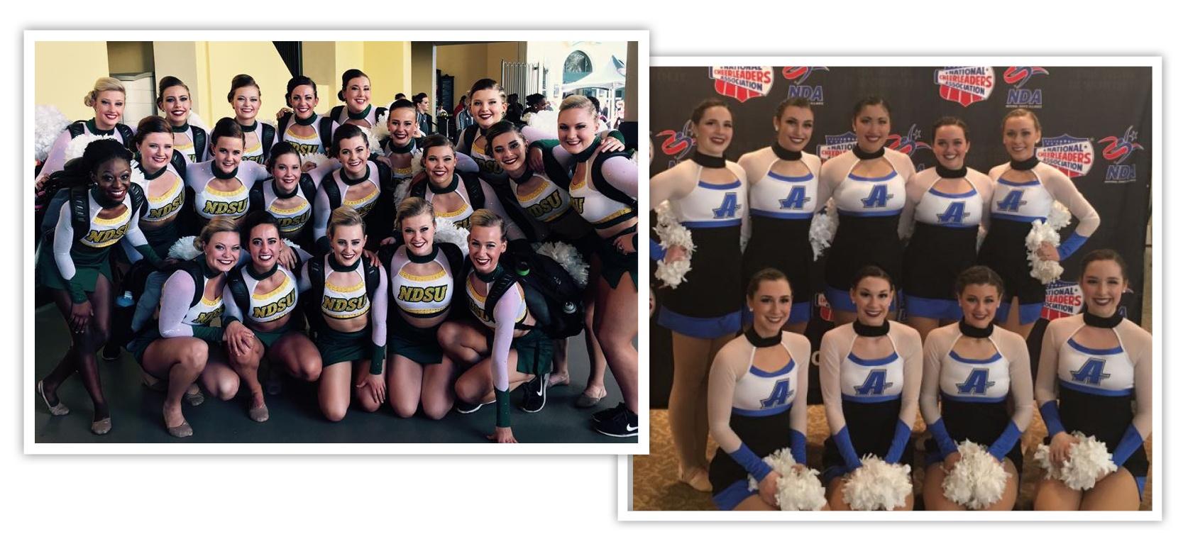 cheer and pom uniform trends: choker look
