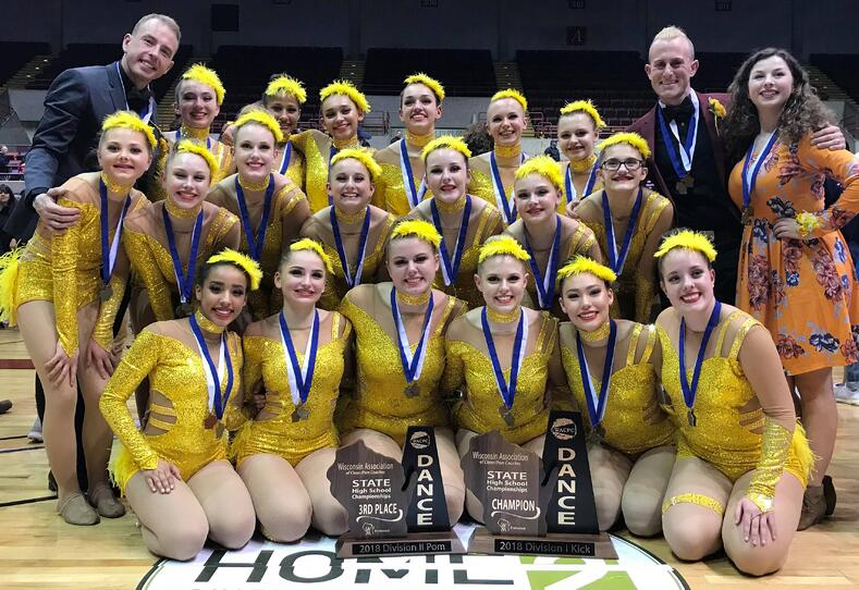 WI kick champs ashwaubenon dance team custom dance costume