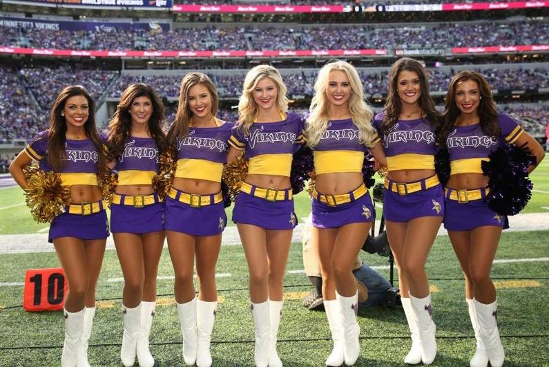 color rush  uniform minnesota vikings cheerleaders