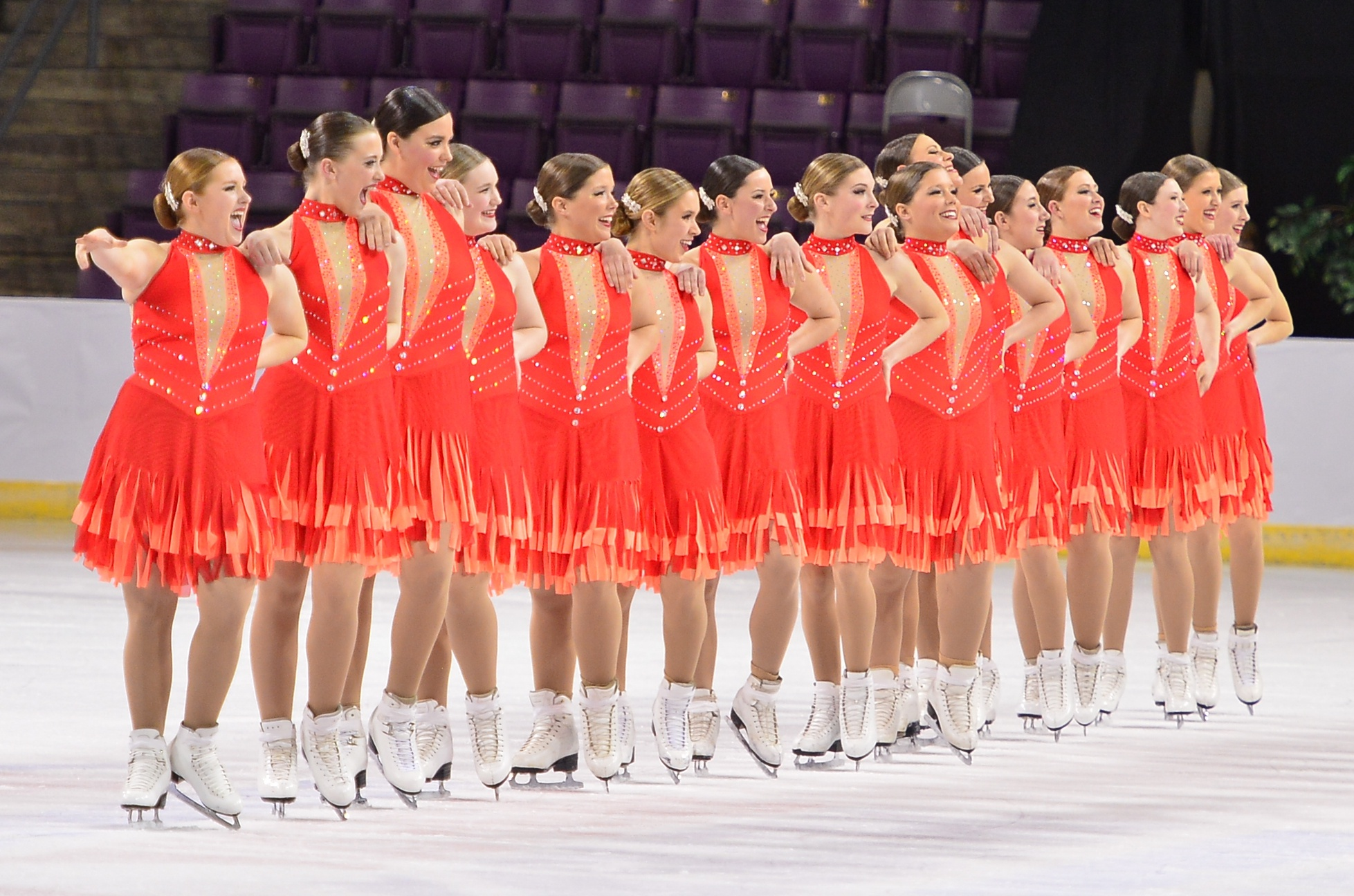 flattering dance, skate, cheer costumes for the whole team