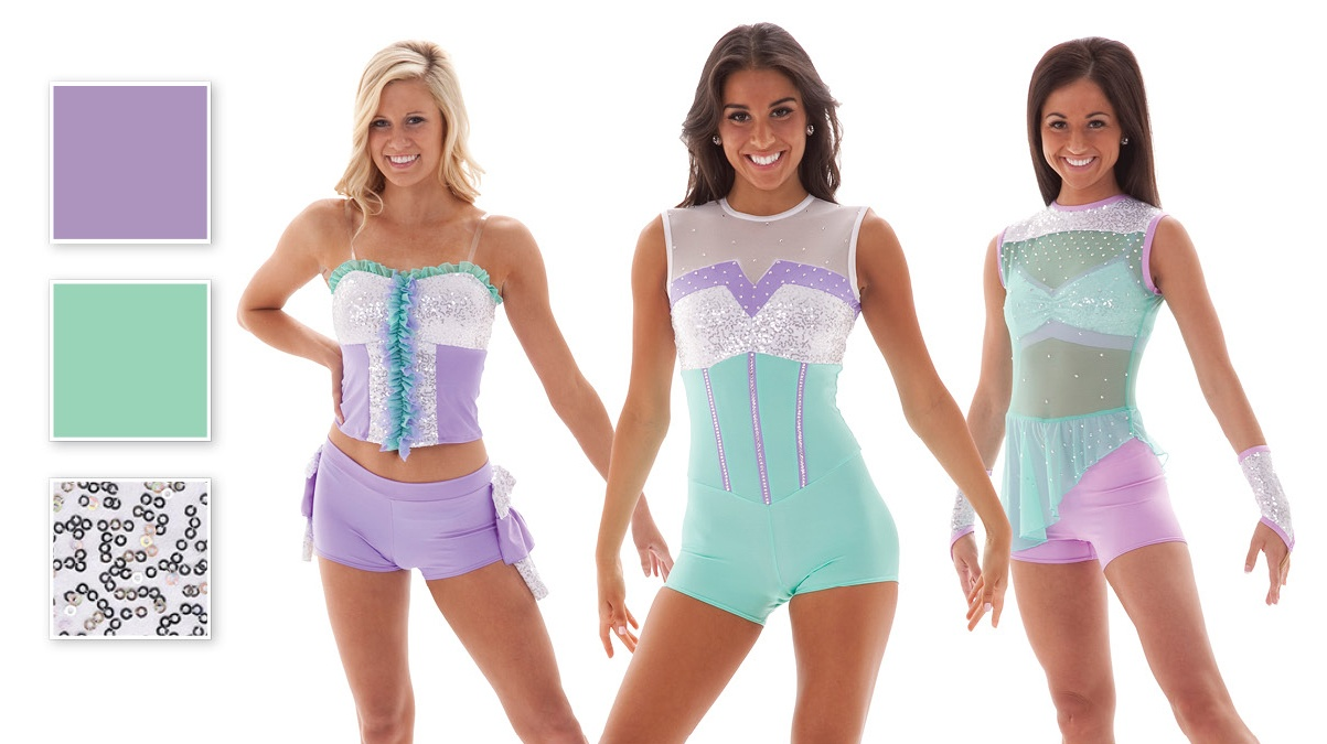 Daveny, Halston, and Badgely Pastel Jazz Dance Costumes