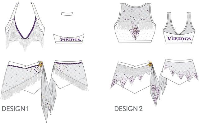 Minnesota Vikings Cheerleaders custom uniform designs