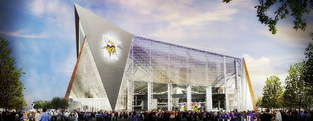 US Bank Stadium rendering