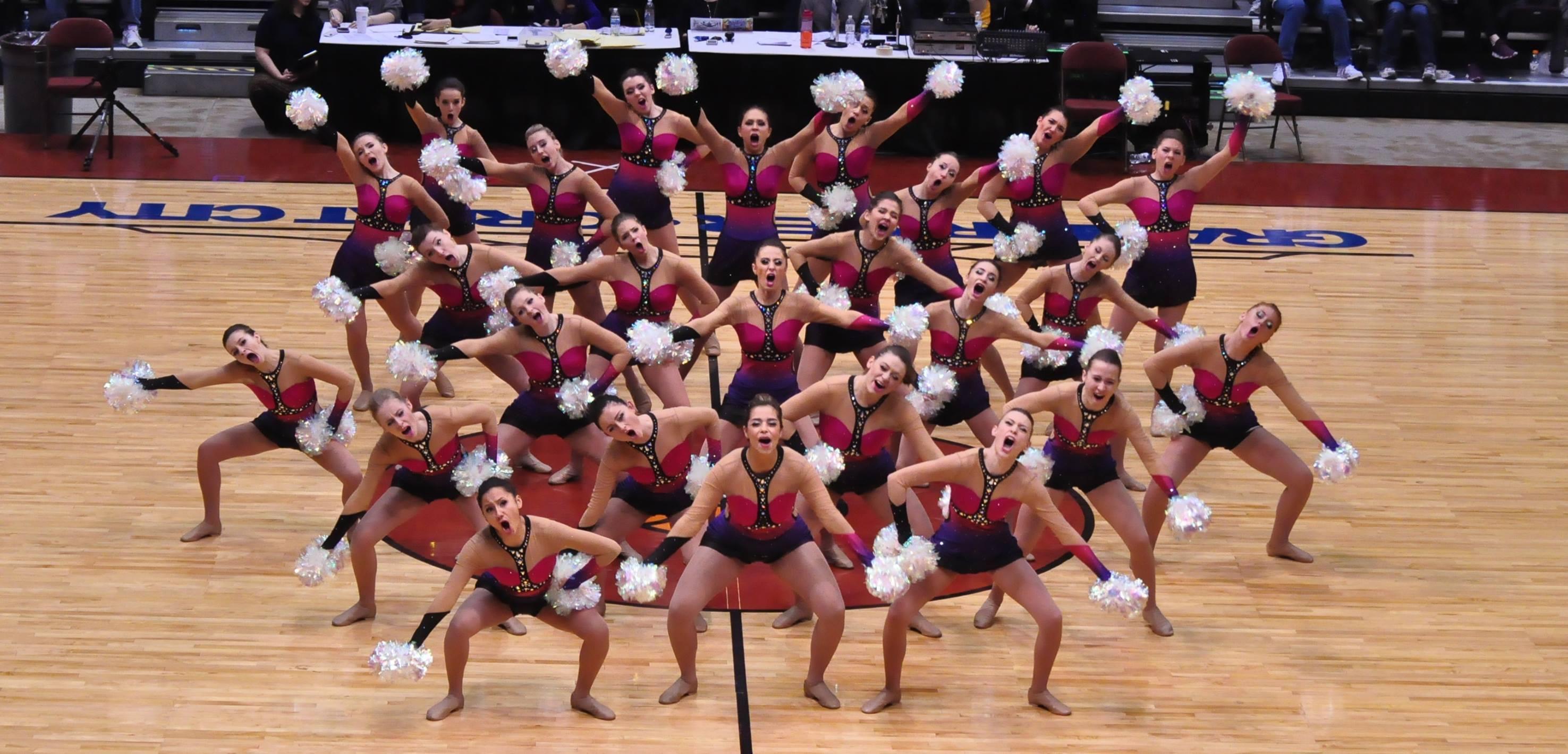 Green Bay Preble Dance Team Custom Pom Uniform