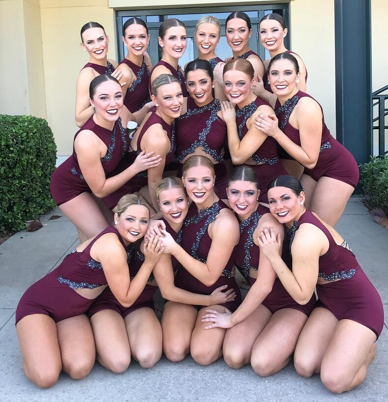 ohio state university dance team at 2018 UDA Jazz