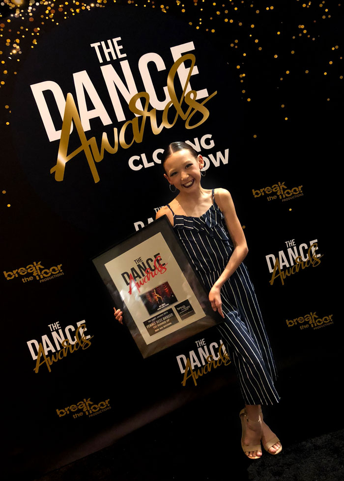 Ali at the Dance Awards