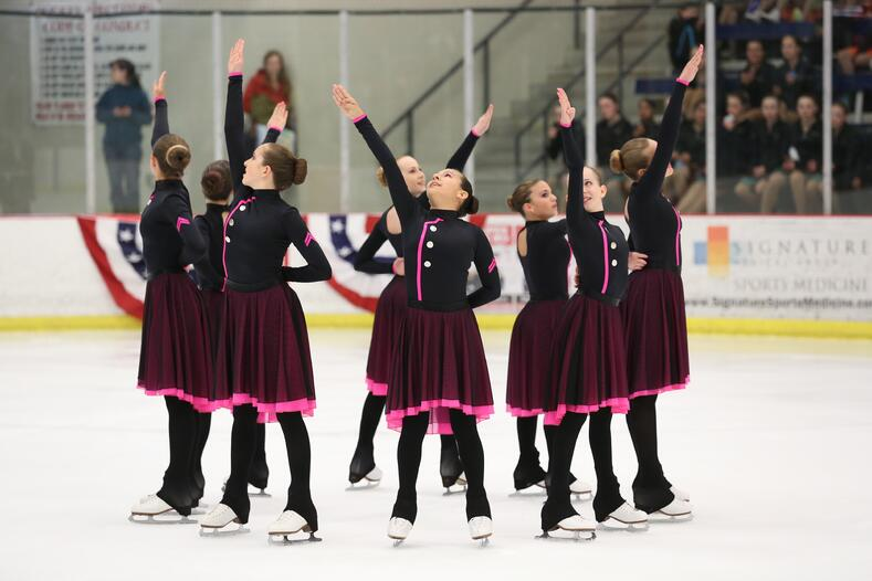 military theme synchronized skating dress by Team Paradice