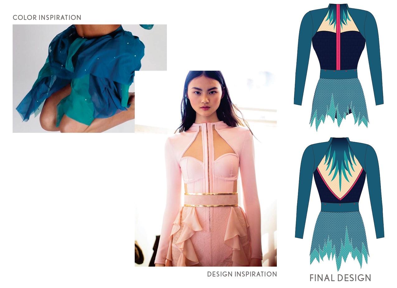 Inspiration Photos and Design Illustration for Jazz Dance Costume