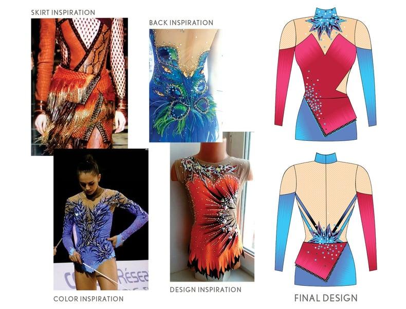 Inspiration Photos and Design Sketch- Waupaca Dance Team
