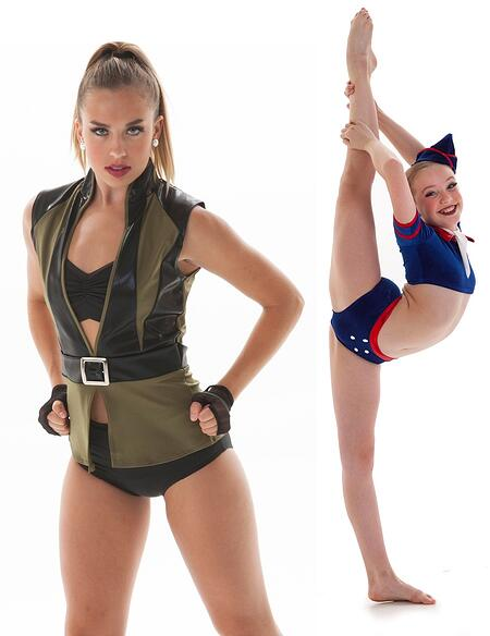 Military theme dance costumes