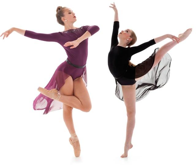 Octavia Open Front Skirt Lyrical Dance Costume