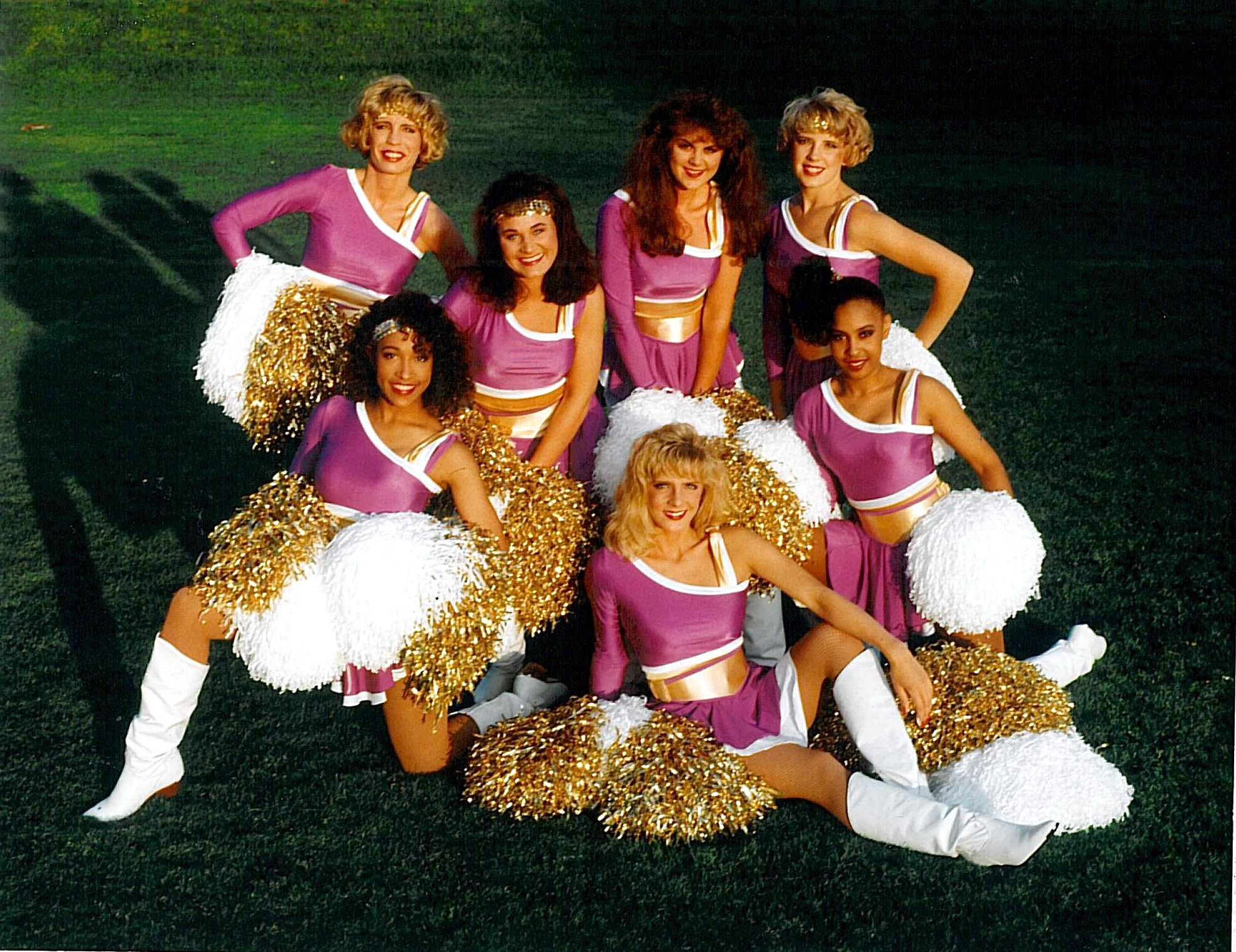 minnesota vikings cheerleaders old uniforms