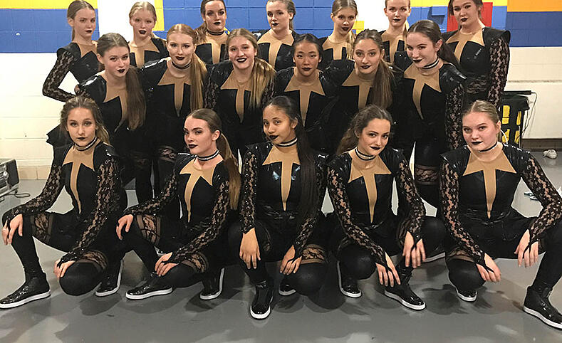 Sheboygan North black lace hip hop dance costume